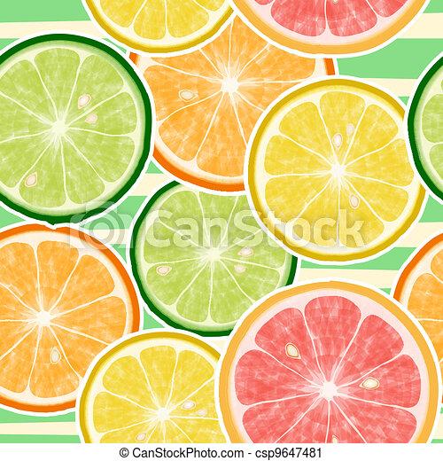 Seamless fruits background - csp9647481