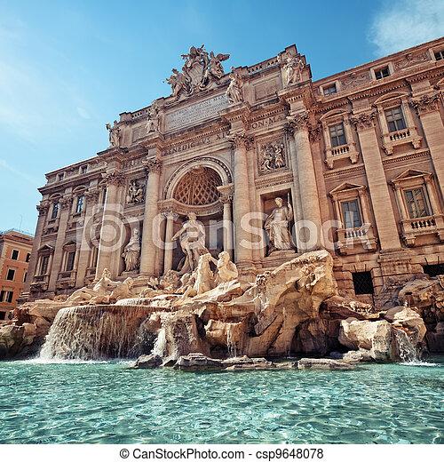 Trevi Fountain, Rome - Italy - csp9648078