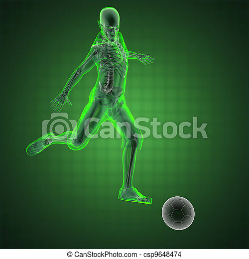 soccer game player - csp9648474