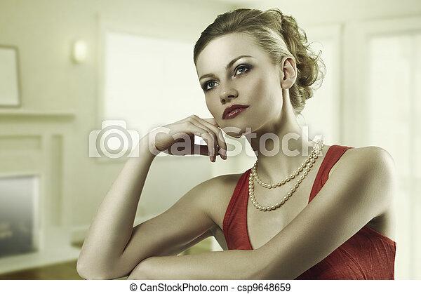 the alluring fashion woman  - csp9648659