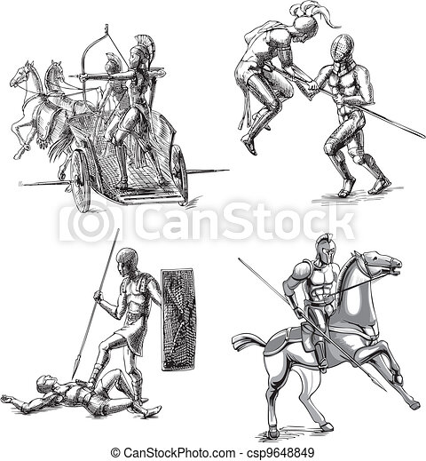 Roman Gladiator Drawing Ancient Gladiator Sketches