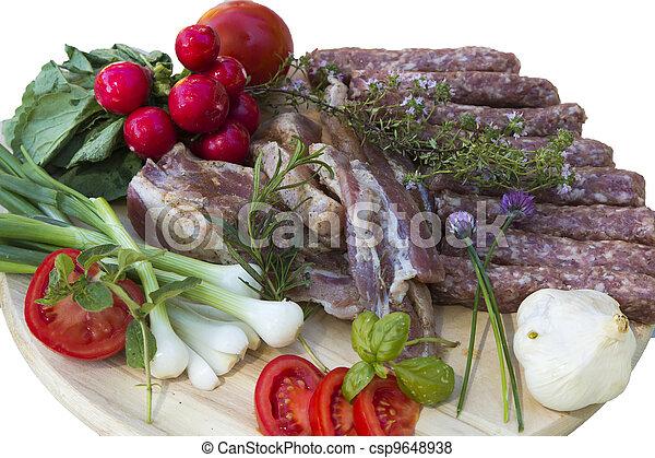 American Balkan BBQ before grilling - csp9648938