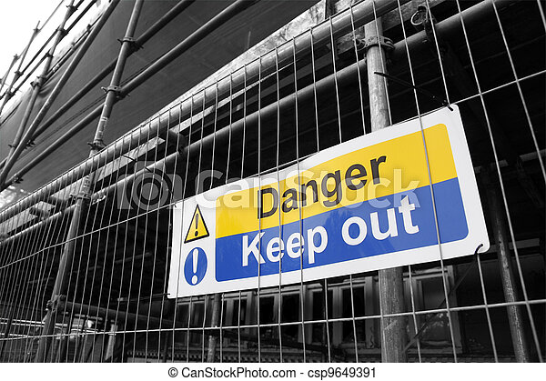 Danger Keep Out sign - csp9649391
