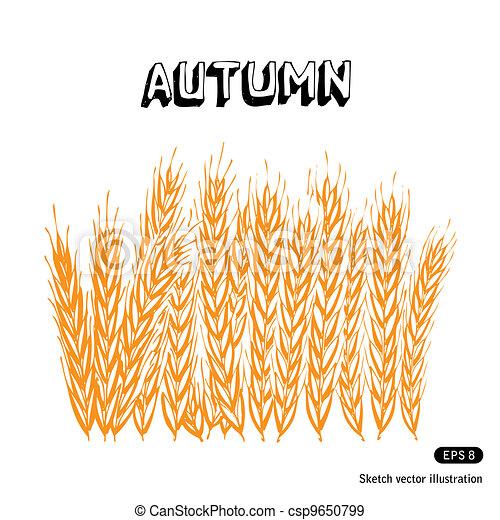 Agriculture illustration - csp9650799