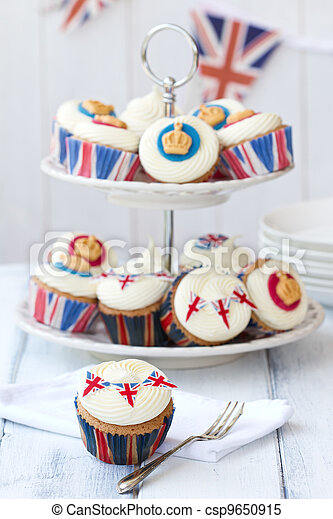 Royal Jubilee cupcakes - csp9650915