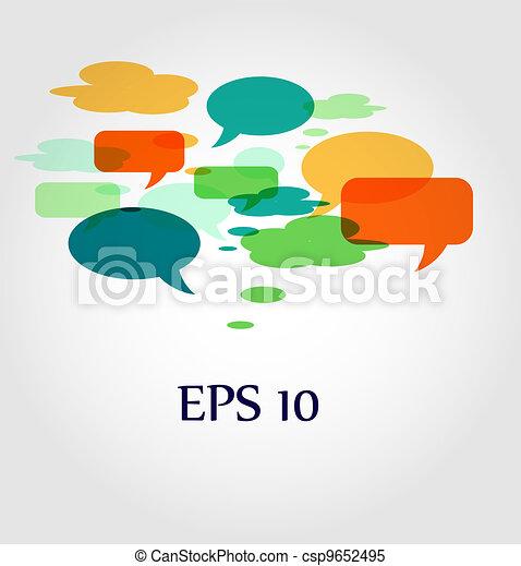 speech bubbles and dialog balloons - csp9652495