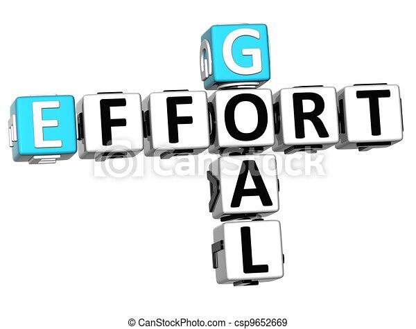 3D Goal Effort Crossword - csp9652669