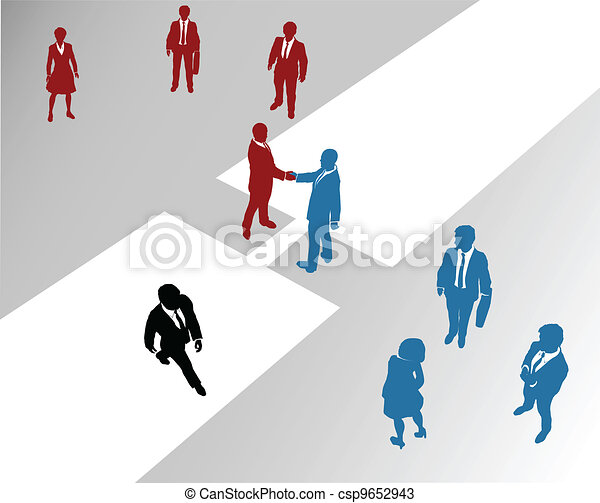 Business company teams join merger bridge 2 - csp9652943