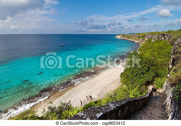 A landmark location on Bonaire, Caribbean. - csp9653412