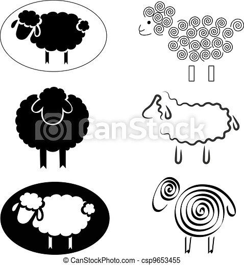 vecteur clipart de mouton  silhouettes  noir noir black sheep clipart images black sheep clip art baby