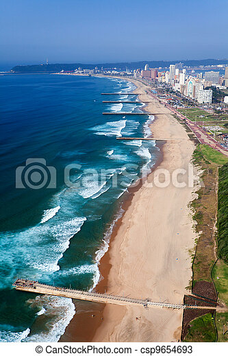 aerial view of durban, south africa - csp9654693