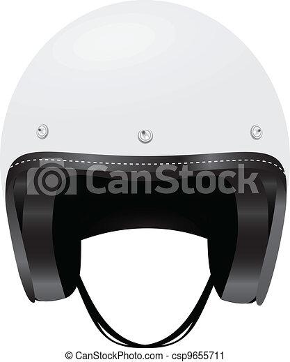 Vector Clip Art of Motorcycle helmet - A helmet protects ...