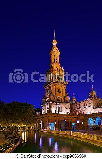Palace at Spanish Square in Sevilla Spain - csp9656369
