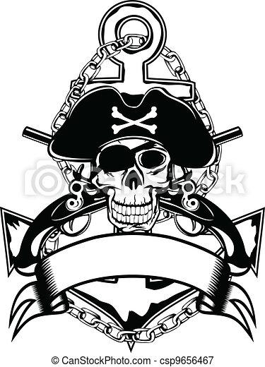 Anchor and skull - csp9656467