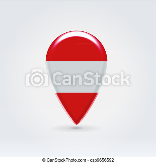 Geo location national point label - csp9656592
