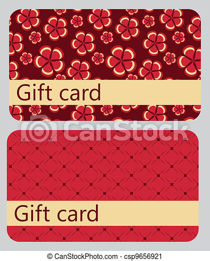 abstract beautiful set of gift card design, vector illustration. - csp9656921
