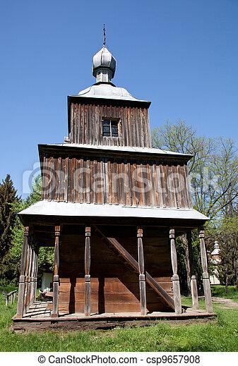 Obsolete wooden church - csp9657908