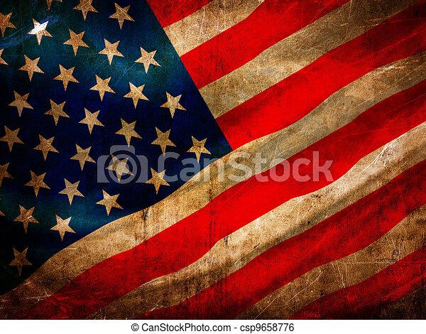 Grunge USA flag series - csp9658776