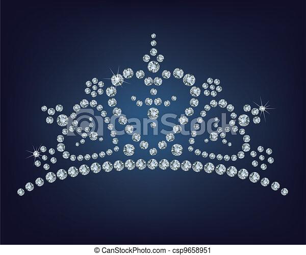Diamond tiara  - csp9658951