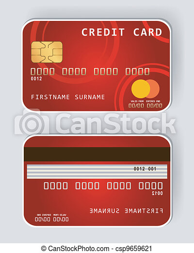Red credit card Banking concept fro - csp9659621