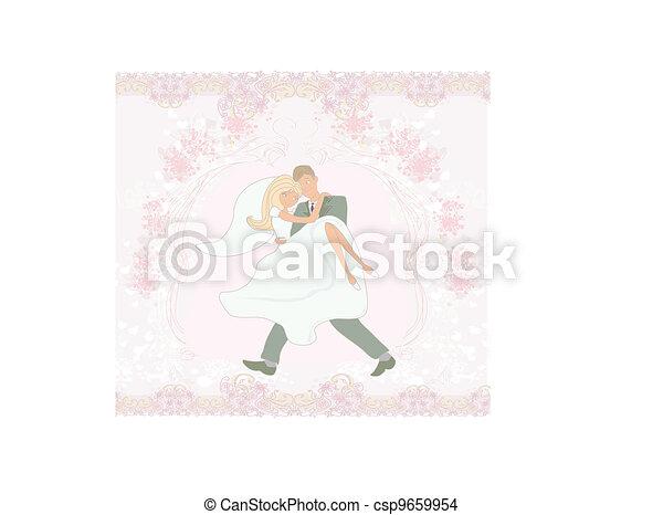 elegant wedding invitation  - csp9659954