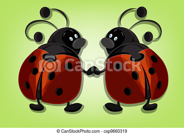 Two ridiculous ladybugs - csp9660319