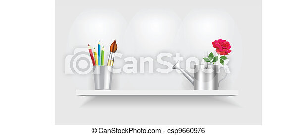 Shelf with accessories - csp9660976