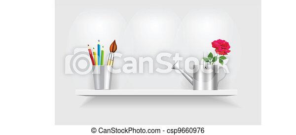 Shelf with accessories - csp9660976