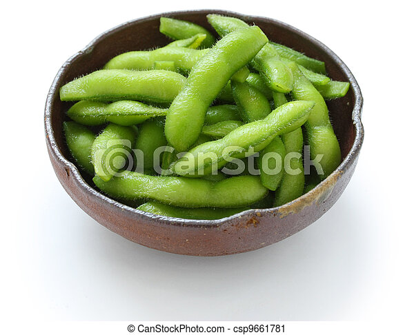 edamame, boiled green soy beans - csp9661781