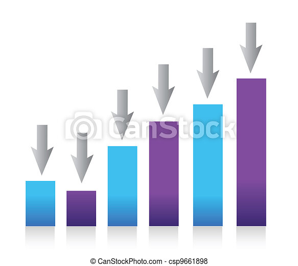 Growing bar chart from color blocks - csp9661898