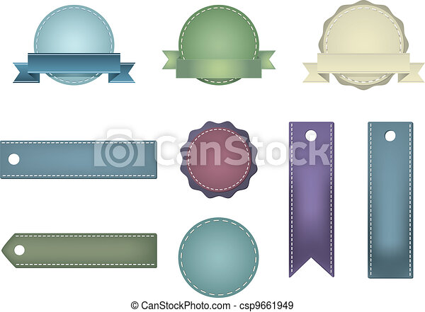 Vintage Styled Ribbons and Badges - csp9661949