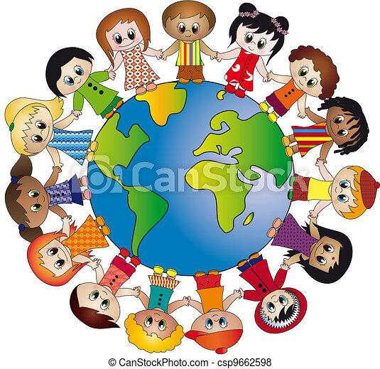 Kinderkreis clipart  Welt kinder Illustrationen und Clip-Art. 8.551 Welt kinder ...