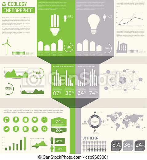 Ecology info graphics collection - csp9663001