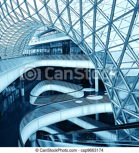 details of an interior of modern office building - csp9663174