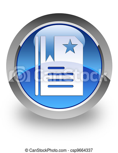 Bookmark glossy icon - csp9664337