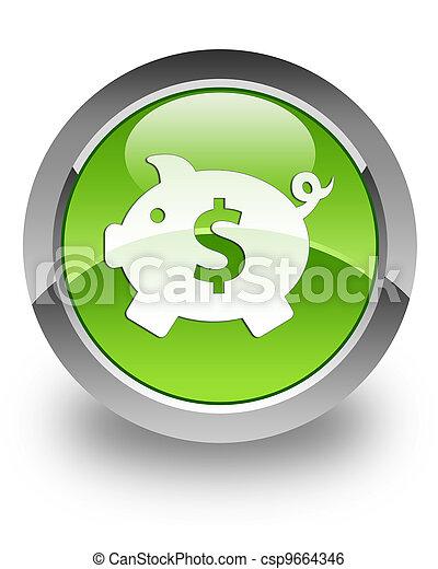 Money box (dollar) glossy icon - csp9664346