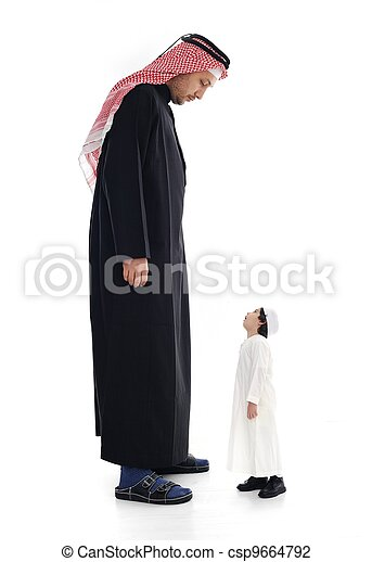 Arabic big and small, adult and child - csp9664792