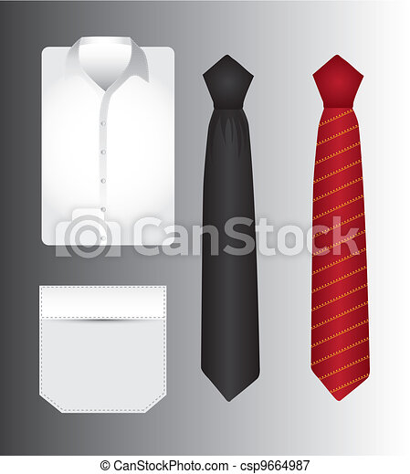t shirt and tie - csp9664987