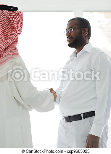 Arabic and African American business men - csp9665025