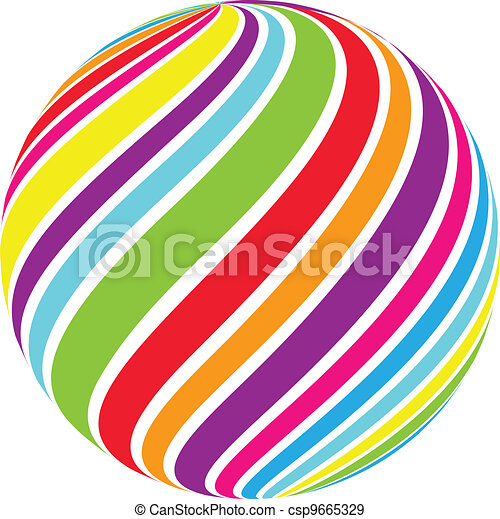 Abstract Swirl Sphere Vector - csp9665329