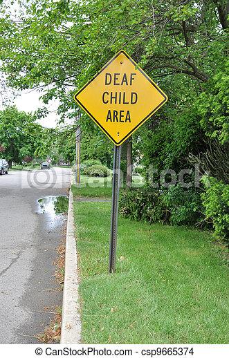 Deaf Child Area Traffic Sign