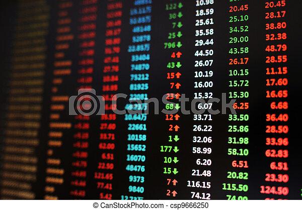 Stock market - csp9666250