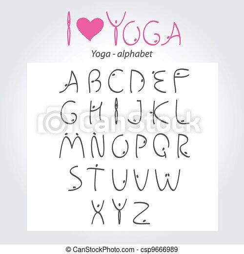 Yoga-alphabet - csp9666989