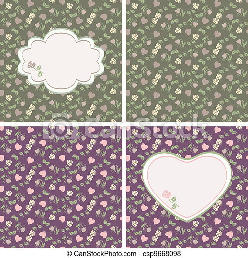 Valentine seamless patterns with he - csp9668098