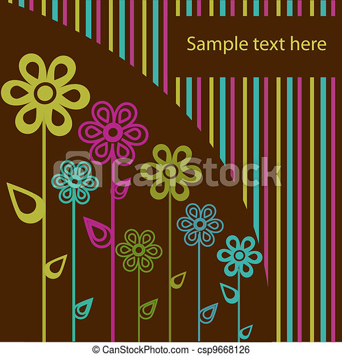 Beautiful sample from flowers - csp9668126