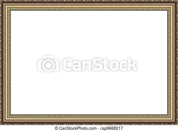 Beautiful wooden photo frame - csp9668217