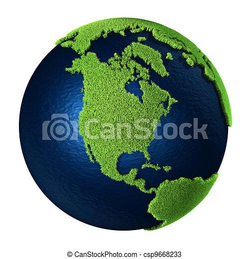Grass Earth - North America - csp9668233