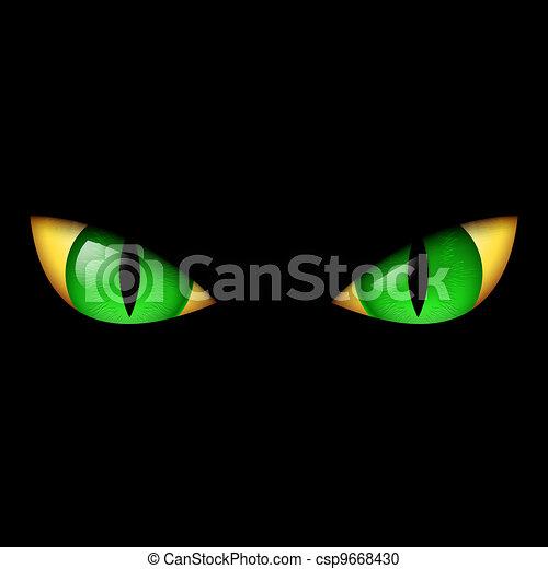 Evil Green Eye - csp9668430