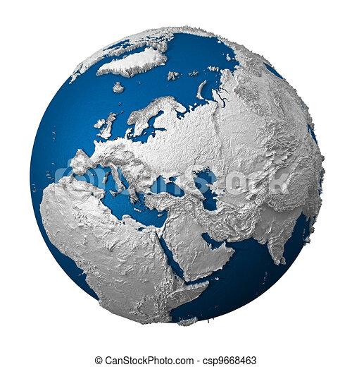 Artificial Earth - Europe - csp9668463