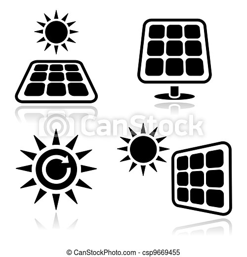 Solar panels icons - csp9669455